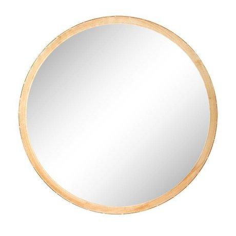 Riverdale Mirror Elano round gold metal ø49cm