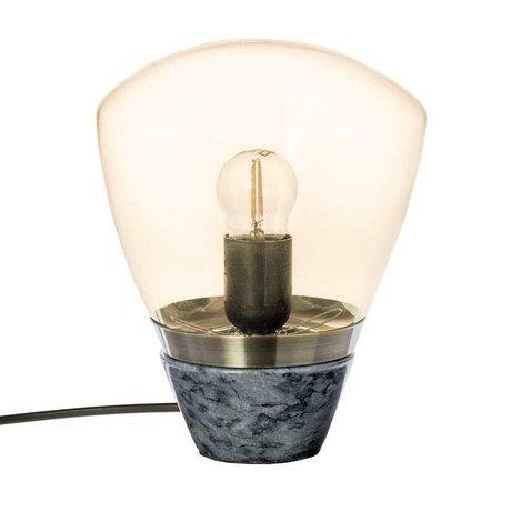 Riverdale Lampe de table marbre fumée marbre verre 23cm