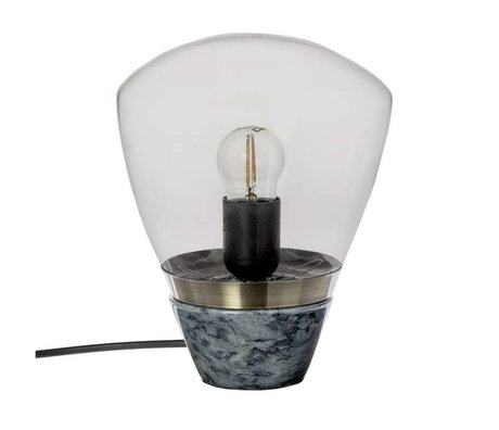 Riverdale Table lamp marble dark gray marble glass 23cm
