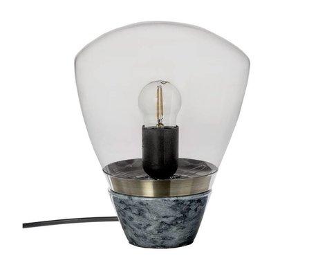 Riverdale Tischlampe Marmor dunkelgrau Marmor glas 23cm