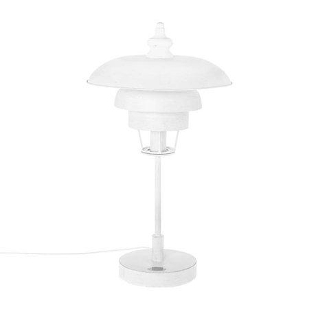 Riverdale Tischlampe Boston weißes Metall 68cm