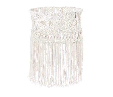 Riverdale Lámpara colgante bohème algodón blanco 43cm