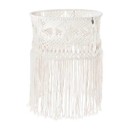 Riverdale Hanging lamp bohème hvid bomuld 43cm