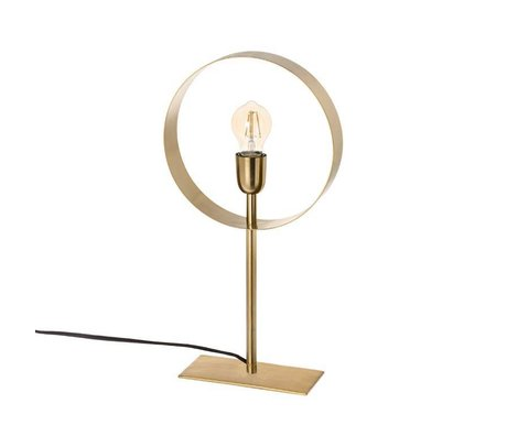 Riverdale Lampe de table Bryce en acier doré 49cm