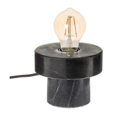 Riverdale Lampe de table Bryce noire marbrée 13cm
