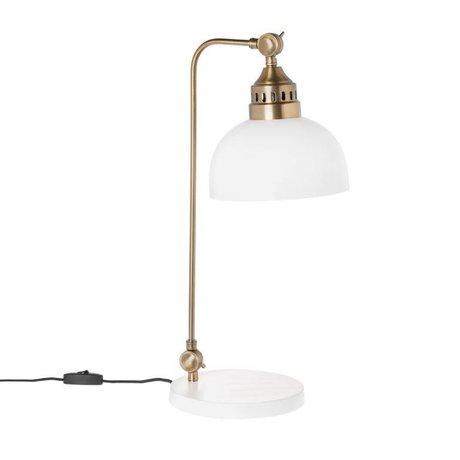 Riverdale Table lamp Bryce white steel bronze 54cm