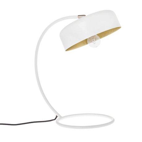 Riverdale Lámpara de mesa Bryce blanco acero bronce 46cm
