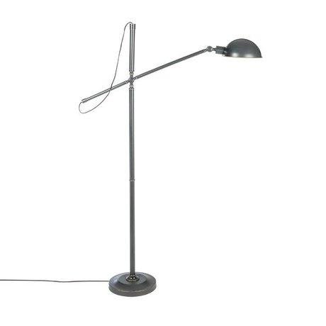 Riverdale Lámpara de pie Luca hierro gris oscuro 146cm