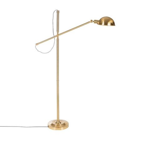 Riverdale Floor lamp Luca Gold Iron 146cm