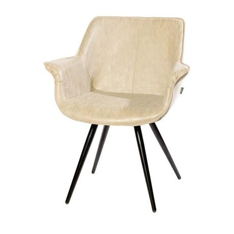 Riverdale Armchair Blake beige PU leather 81cm