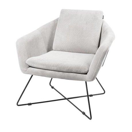 Riverdale Lænestol Ridge lys grå tekstil 82cm