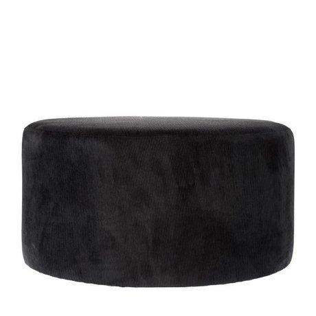 Riverdale Afføring Ridge sort tekstil 70cm
