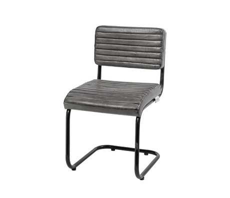 Riverdale Dining chair Tulsa gray leather 80cm