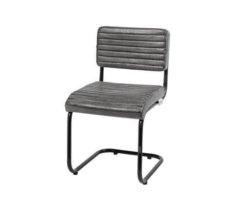 Riverdale Silla de comedor Tulsa gris cuero 80cm