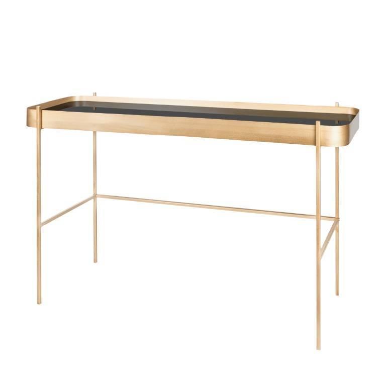 Riverdale Bijzettafeltje Wit.Riverdale Side Table Elano Gold Metal Glass 121cm Lefliving Com