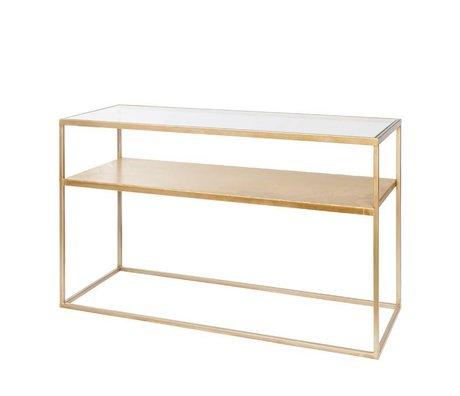 Riverdale Table d'appoint Elano verre doré 120x40x71cm