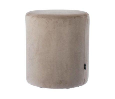 Riverdale Stool Chelsea gray velvet Ø45x50cm