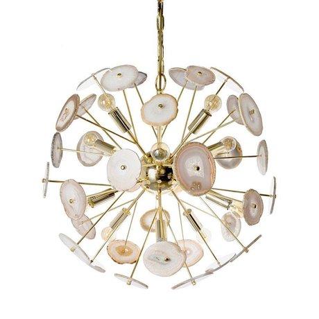 Riverdale Hanging lamp Noah gold metal Ø58,5x58,5cm