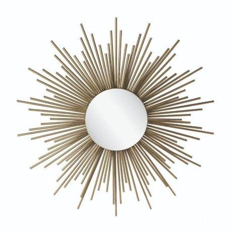 Riverdale Spiegel Amaro Sonne Gold Metall 4,5x81x81x81cm