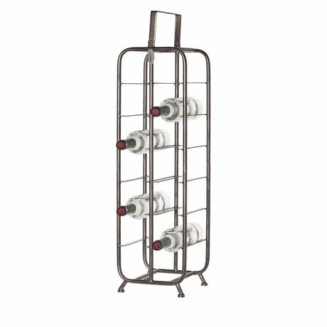 Riverdale Wine rack Chelsea black metal 23,5x23x88cm