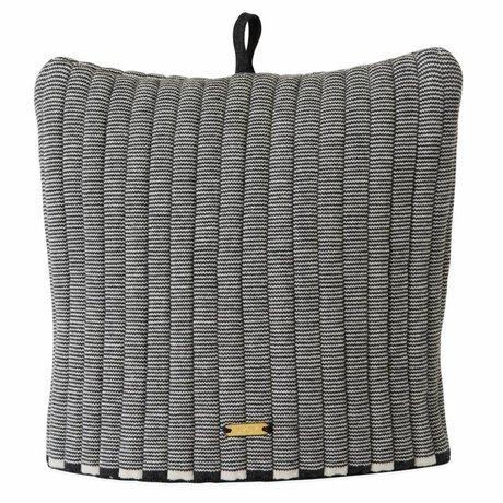 OYOY Sombrero de té Stringa mimoso de algodón antrancitador blanco 32x30cm