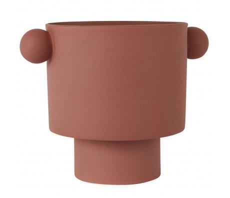 OYOY Pot Inka Kana Sienna stor rødbrun keramik ø30x23cm