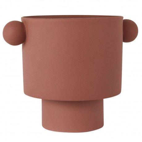 OYOY Pot Inka Kana Sienna grande en céramique brun rougeâtre ø30x23cm