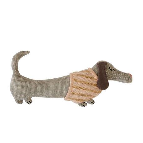 OYOY Snus legetøj Baby Daisy hund bomuld 32x15cm