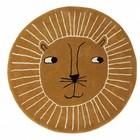 OYOY Tapis lion laine brune coton ø95cm