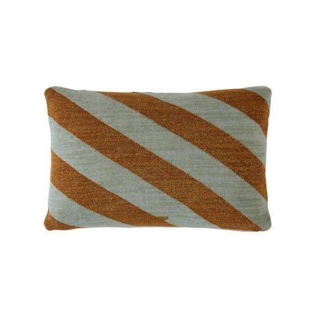 OYOY Pillow Takara mint caramel brown cotton 35x50cm
