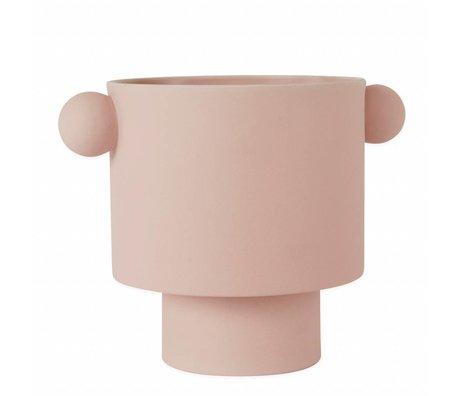 OYOY Topf Inka Kana rosa groß Keramik ø30x23cm