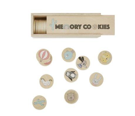 OYOY Spel jeu de mémoire cookies hout 22,5x7,5x7,5x7cm