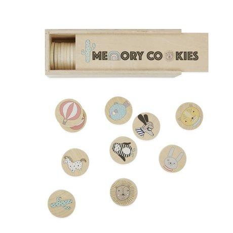 OYOY Spel biscotti di memoria di gioco hout 22,5x7,5x7,5x7cm