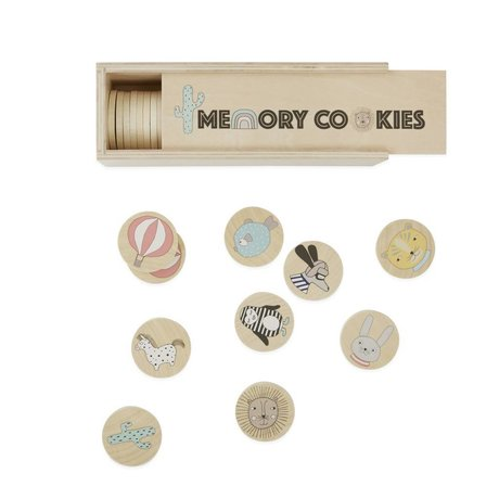 OYOY Spel Gedächtnisspiel Cookies hout 22,5x7,5x7,5x7cm