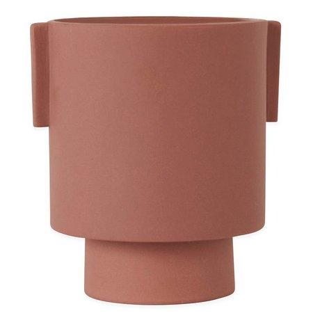 OYOY Pot Inka Kana sienna medium keramik ø15x16cm