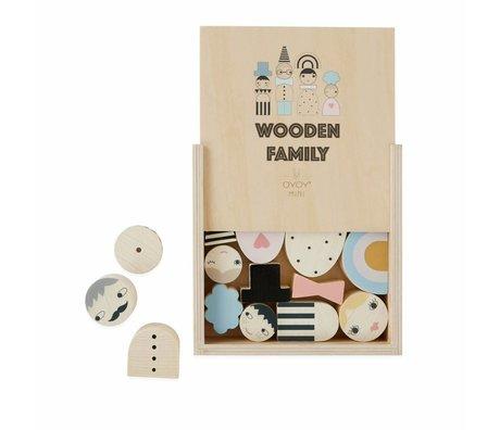 OYOY Spielzeug Familienziegel Blöcke Holz 2,5-5,5 x H 1-5,5cm