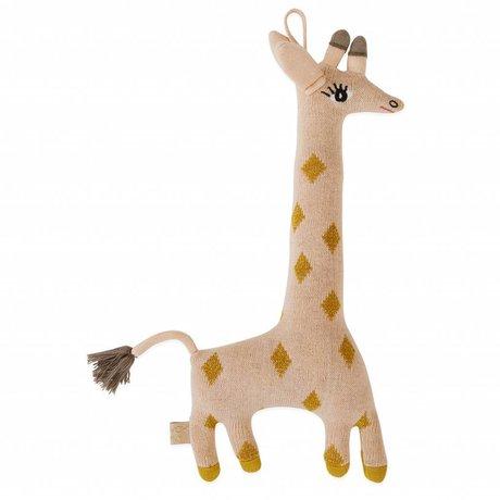 OYOY Oreiller Peluche Bébé Guggi Girafe en coton 17x32cm