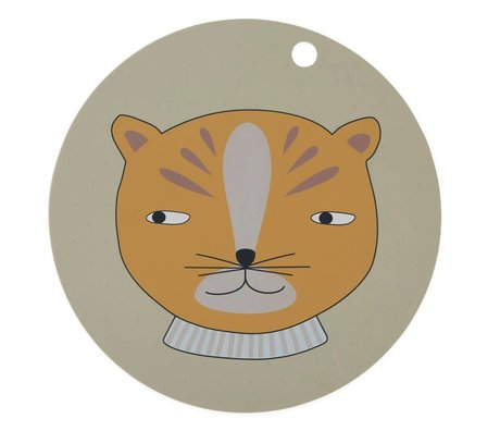 OYOY Mantel de leopardo tono silo cono ø39x0,15cm