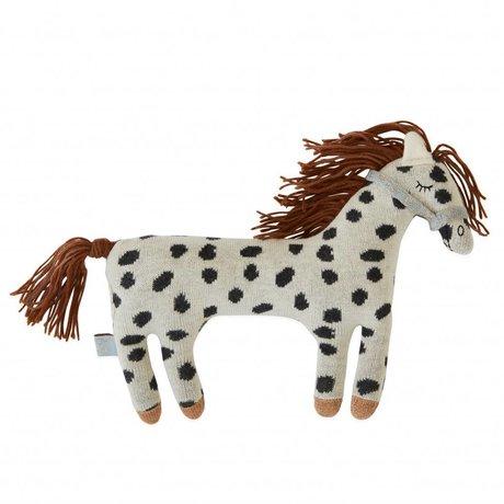OYOY Oreiller Peluche Little Pelle Pony coton 24x20cm