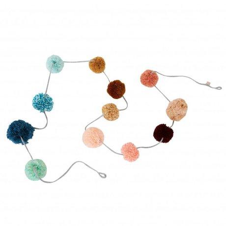 OYOY Pom Pom Pom Garlander cotton pendulum 280xø7-8cm