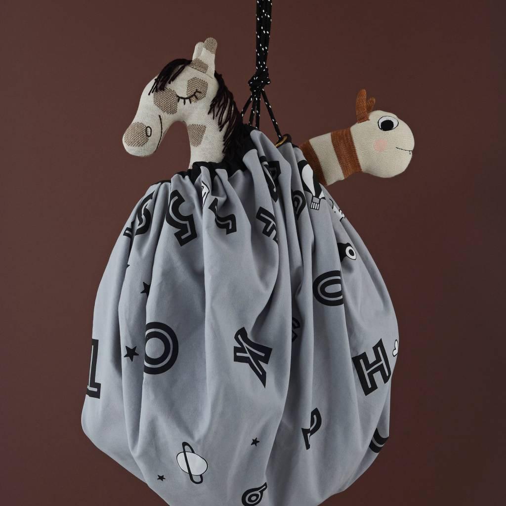 Meuble De Rangement Pour Garderie oyoy sac de rangement / couverture de jeu alphabet toile de coton gris  ø138cm