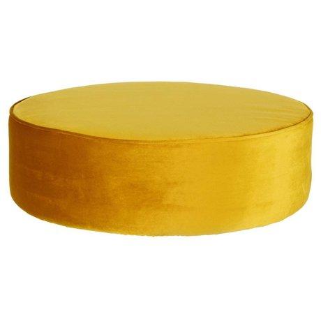 LEF collections Sara round xl stool low velvet ocher