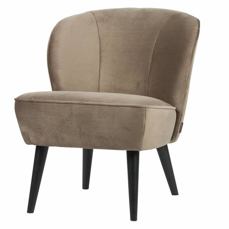LEF collections Sara fauteuil velours olive doré