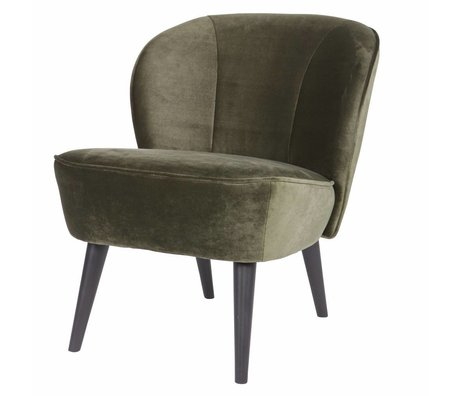 LEF collections Sara fauteuil velours vert chaud