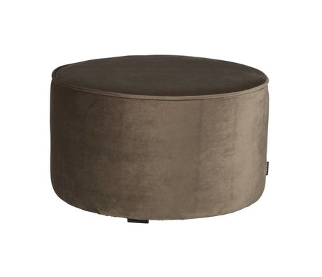 LEF collections Sara round stool low velvet olive gold