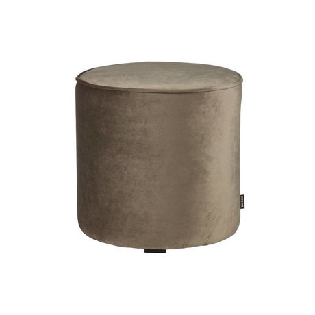 LEF collections Sara round stool high velvet olive gold