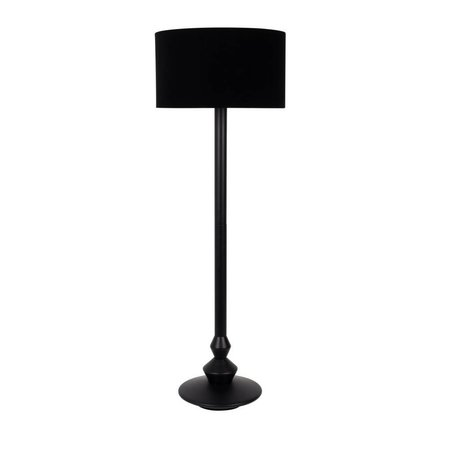 Zuiver Floor lamp Finlay black wood velvet fabric ø50x150cm