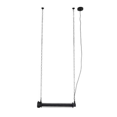 Zuiver Lampe suspendue prime l métal noir 70x13,5x200cm