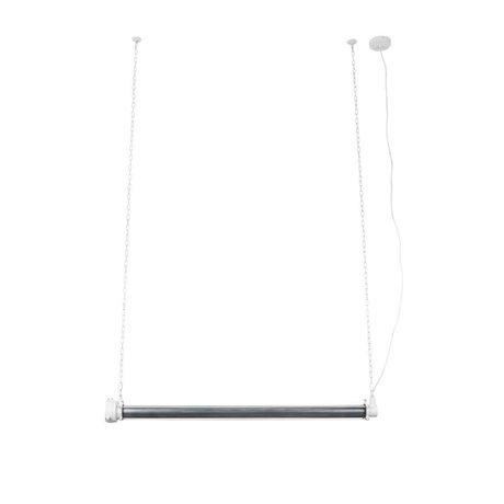 Zuiver Lampada a sospensione Prime xl in metallo bianco 130x13,5x200cm