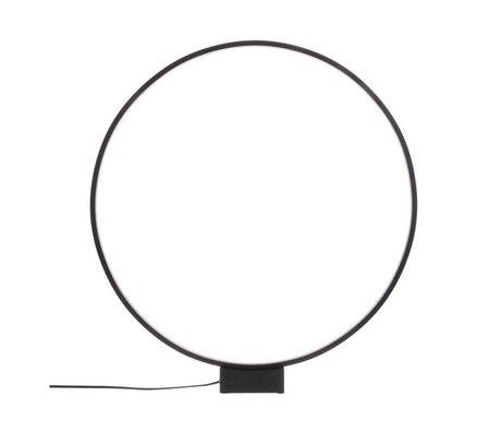 HK-living Lampada da tavolo cerchio luce in alluminio nero Ø60x65cm